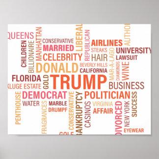 切札のドナルドのカラフルな多数の政治家 ポスター
