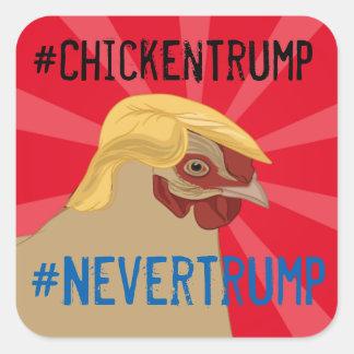 切札のドナルド・トランプのステッカーを#Chicken スクエアシール
