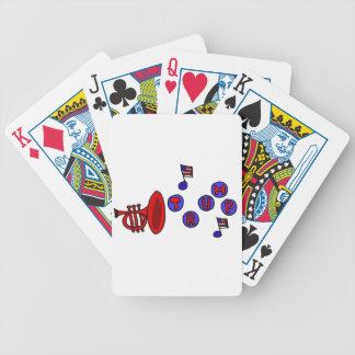 切札のノートを遊ぶトランペット バイスクルトランプ