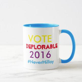 切札のペニーの#NeverHillary嘆かわしいマグ マグカップ