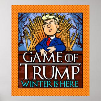 切札の冬のゲームはここにあります ポスター