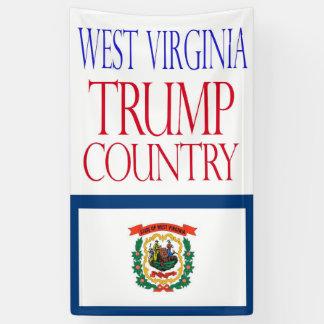 切札の国のウェストヴァージニアの2016年の旗 横断幕