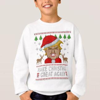 切札はクリスマスに素晴らしい醜いセーターを再度します スウェットシャツ