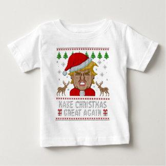 切札はクリスマスに素晴らしい醜いセーターを再度します ベビーTシャツ