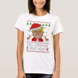 切札はクリスマスに素晴らしい醜いセーターを再度します Tシャツ