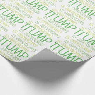 切札は素晴らしい緑のテーマの包装紙です ラッピングペーパー