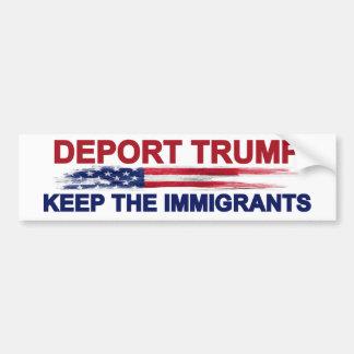 切札を保ちます移民を追放して下さい バンパーステッカー