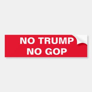 切札無し、GOP無し バンパーステッカー