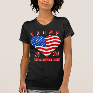 切札2020年保つアメリカの素晴らしく愛国心が強いハート Tシャツ