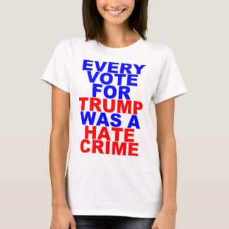 切札=憎悪犯罪(彼女のためのライト)のためのあらゆる投票 Tシャツ