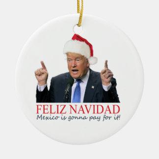 切札。 Feliz Navidad、メキシコはそれの支払う行っています! セラミックオーナメント