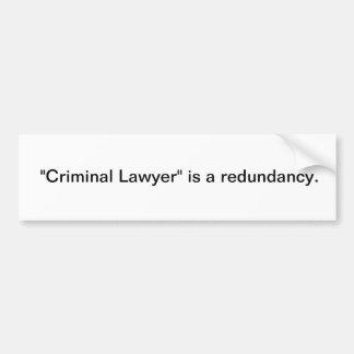 刑事弁護士 バンパーステッカー