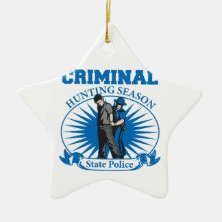 刑事狩猟期の州の警察 セラミックオーナメント