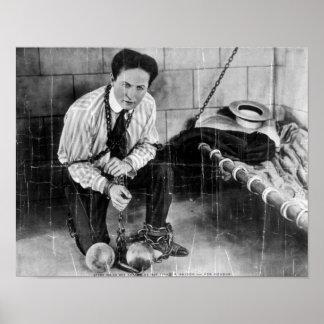 刑務所から脱出する約ハリーHoudini ポスター