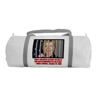 刑務所に大きいヒラリー余りに ジムバッグ