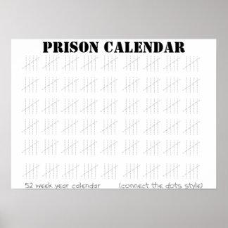 刑務所のカレンダー ポスター