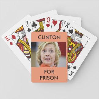 刑務所のノベルティのトランプのためのクリントン トランプ