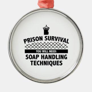 刑務所の存続 メタルオーナメント