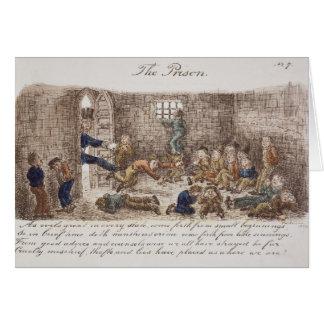 刑務所1858年(着色された版木、銅版、版画) カード