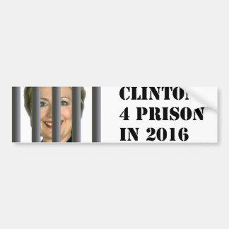 刑務所2016のバンパーステッカーのためのヒラリー・クリントン バンパーステッカー