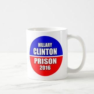 """""""刑務所2016年のためのヒラリー・クリントン"""" コーヒーマグカップ"""