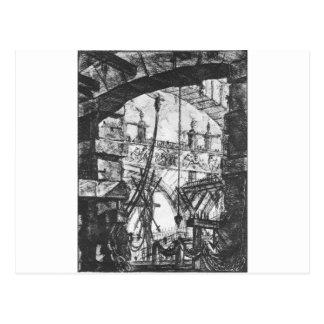 刑務所(IV)ジョバンニBattista Pirane著プレート ポストカード