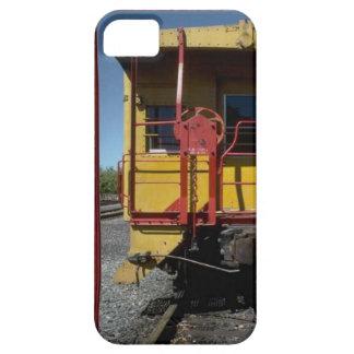 列車およびトラック-昔ながらのな鉄道車 iPhone 5 CASE