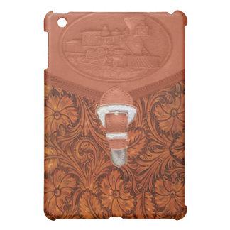 列車によって蒸気機関のIPadの用具を使われる革箱 iPad Miniケース