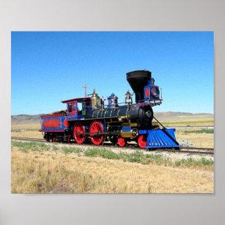 列車のイメージのカッコいい機関車のイメージ ポスター