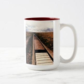 列車のマグ ツートーンマグカップ