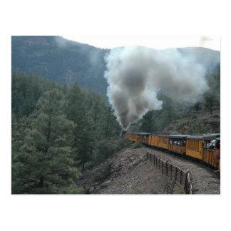 列車の乗車 ポストカード