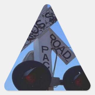列車の交差道路信号は米国を追跡します 三角形シール