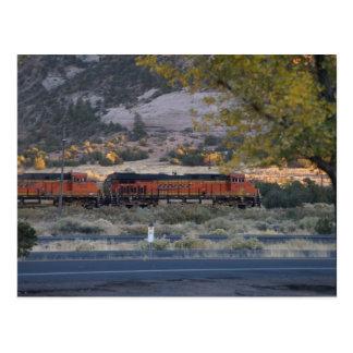 列車の列車旅行 ポストカード