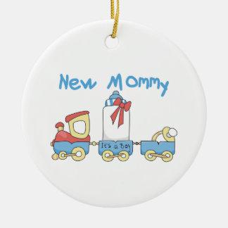 列車の新しいお母さんそれは男の子のギフトです セラミックオーナメント
