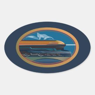列車の芸術 楕円形シール