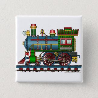 列車の蒸気機関のChoo Chooピン 5.1cm 正方形バッジ