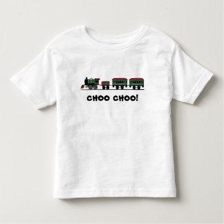 """列車の""""Choo Choo""""のTシャツ トドラーTシャツ"""