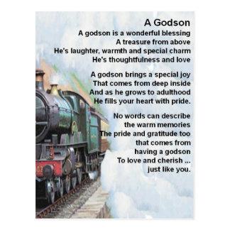 列車の     Godsonの詩 ポストカード