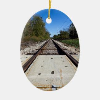 列車は卵形Ornament2を追跡します セラミックオーナメント