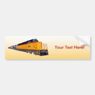 列車エンジン: クラシックな色彩の配合: バンパーステッカー