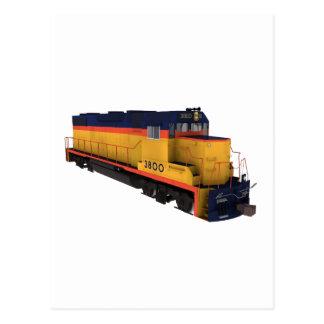 列車エンジン: チェサピークの色彩の配合: ポストカード