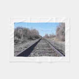 列車トラック毛布 フリースブランケット