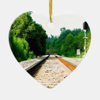 列車トラック セラミックオーナメント