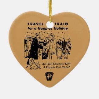 列車ペンシルバニアの鉄道による旅行 セラミックオーナメント