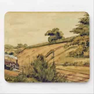 列車1854年との景色(w/cおよびpapeの鉛筆 マウスパッド