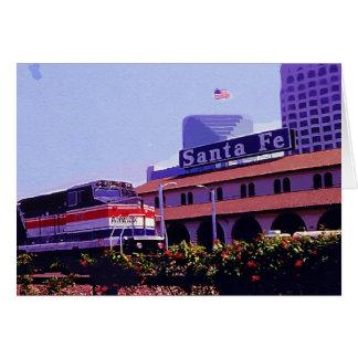 列車、サンディエゴの場所、カリフォルニア カード