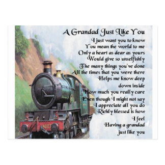 列車-祖父の詩 ポストカード