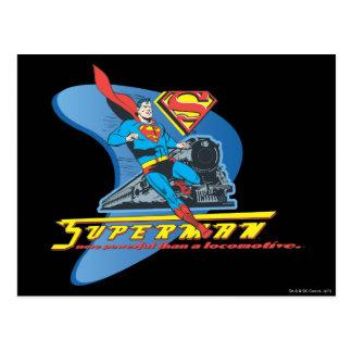 列車-色を持つスーパーマン ポストカード