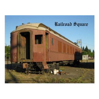 列車- Santa Rosa、カリフォルニア ポストカード