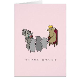 列|のかわいい怠惰のサンキューカードを感謝していして下さい カード